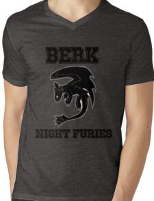 Berk Night Furies Mens V-Neck T-Shirt