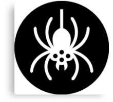 Halloween Spider Symbol Ideology Canvas Print
