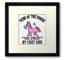 Born Year of The Horse Baby Framed Print