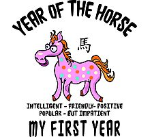 Born Year of The Horse Baby Photographic Print