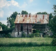 Crumbling Barn by Jessie Cousins