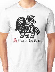 Year of The Horse Papercut Unisex T-Shirt