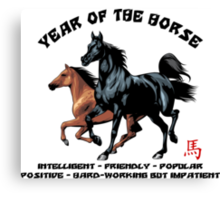 Chinese Zodiac Year of The Horse Canvas Print