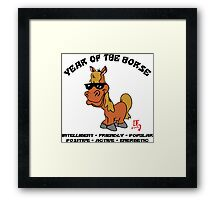 Funny Year of The Horse Framed Print