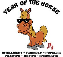 Funny Year of The Horse Photographic Print