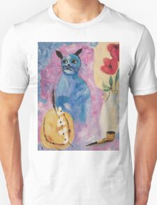 Blue China Cat by Suzanne Marie Leclair T-Shirt