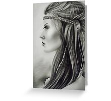 The Feathered Girl Greeting Card