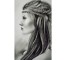 The Feathered Girl Photographic Print