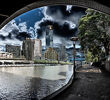 Towers View from Under The Bridge by JohnKarmouche