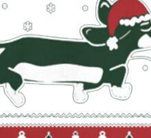 dachshund xmas-Dachshund through the snow Sticker