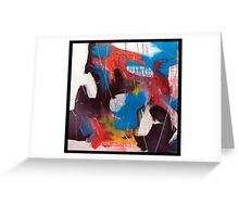 Blue and Orange Intrusion Greeting Card