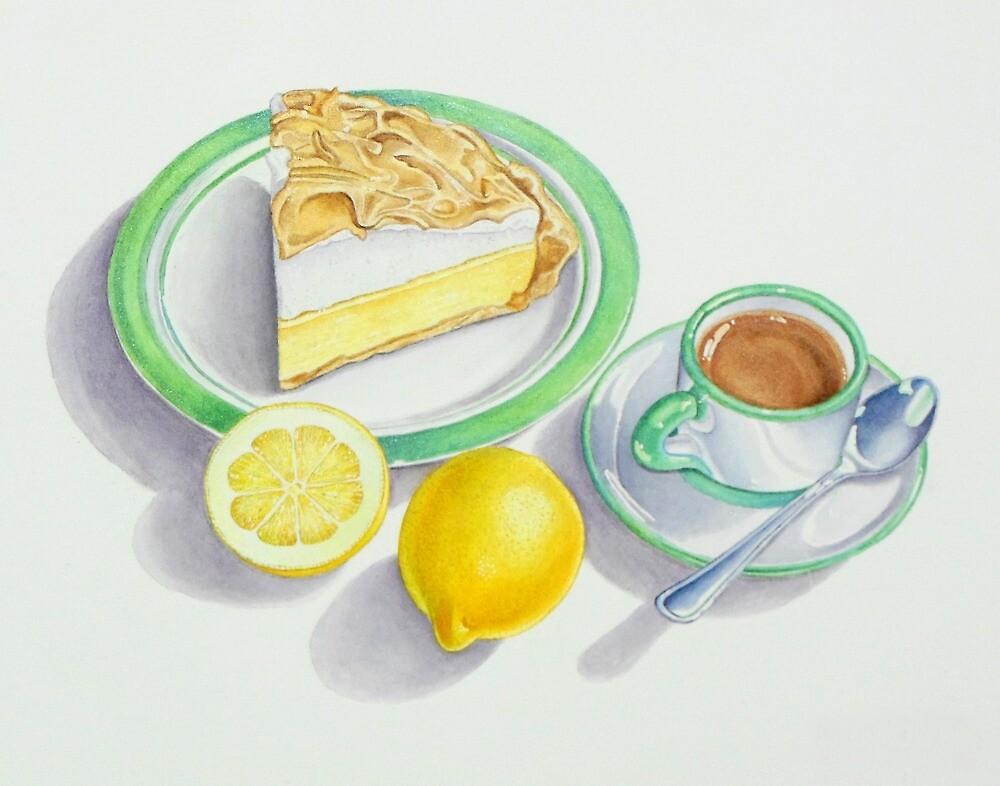 Lemon Meringue Pie with Espresso by joeyartist