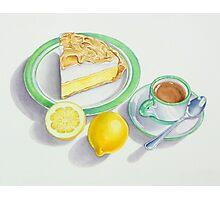 Lemon Meringue Pie with Espresso Photographic Print