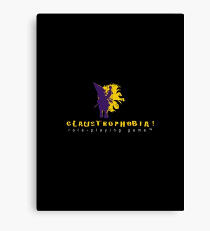 Claustrophobia! Role-Playing Game Logo Canvas Print