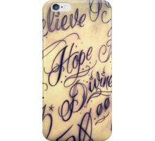 Lettering By Hand iPhone Case/Skin