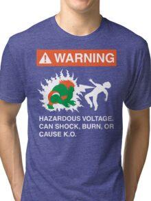 Electric Shock Hazard Tri-blend T-Shirt