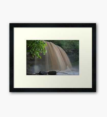 Rock Glen Deluge Framed Print