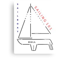 Sailing 101 - The sailboat Metal Print
