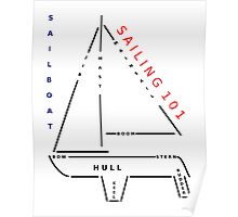 Sailing 101 - The sailboat Poster