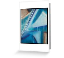 Blue Distraction Greeting Card