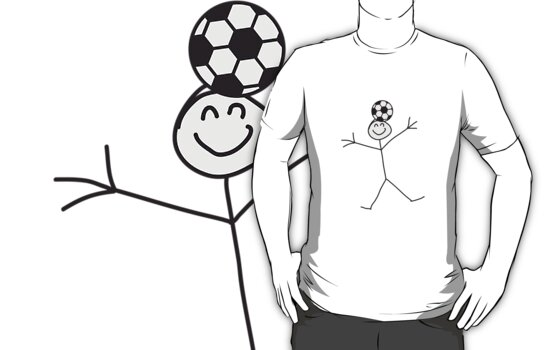Funny Soccer Header Stick Figure by Style-O-Mat