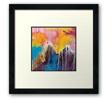 Cyan, Magenta, Yellow abstraction Framed Print