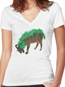 Gogoat Women's Fitted V-Neck T-Shirt
