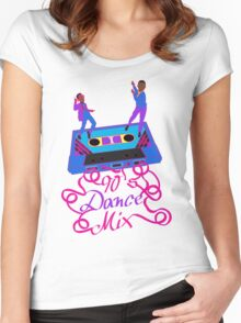 90's Dance Mix  Women's Fitted Scoop T-Shirt