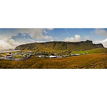 Vik, a small costal town in Iceland Photographic Print