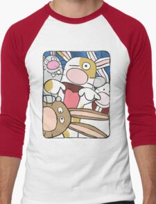Awesome Bunny Photobooth #3 of 4 Men's Baseball ¾ T-Shirt