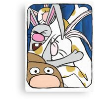 Awesome Bunny Photobooth #2 of 4 Canvas Print