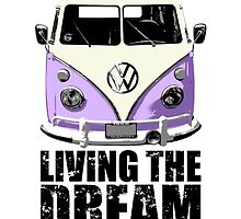 VW Camper Living The Dream Lilac by splashgti