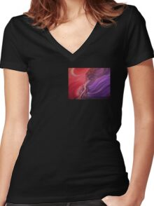 DUAL Women's Fitted V-Neck T-Shirt