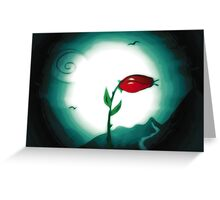 A rose in time and space. Greeting Card