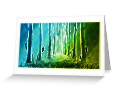 Peeping creatures Greeting Card