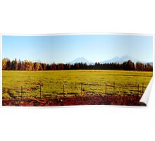 Three Sisters Mountain Range...Sisters, Oregon Poster