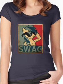 Rainbow Dash Swag Women's Fitted Scoop T-Shirt