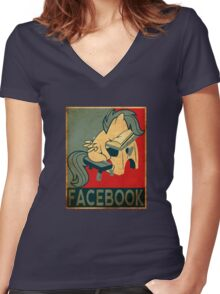 Scootaloo Women's Fitted V-Neck T-Shirt