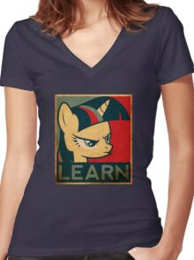 Learn - Twilight Sparkle Women's Fitted V-Neck T-Shirt