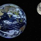 Earth and Moon by Robert-Todd