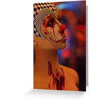 Portrait of a Killer Clown Greeting Card
