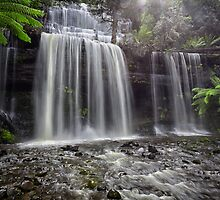 Russell Falls, Mt Field, Tasmania by Chris Cobern