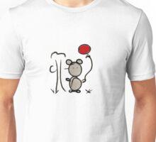 Ours avec ballon rouge Unisex T-Shirt