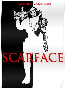 Garrus scarface Mass Effect black by icemanire