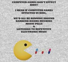 PAC MAN COMPUTER GAMES ELECTRONIC EATING PILLS BLACK by BelfastBoy