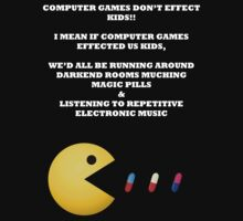 PAC MAN COMPUTER GAMES ELECTRONIC EATING PILLS WHITE by BelfastBoy