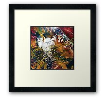 Red and Black Intrusion Framed Print