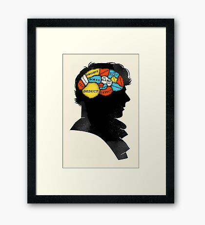 Sherlock Phrenology Framed Print