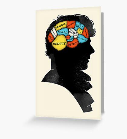 Sherlock Phrenology Greeting Card