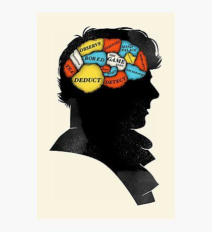 Sherlock Phrenology Photographic Print
